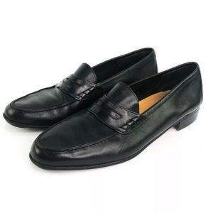 Salvatore Ferragamo Black Penny Loafers